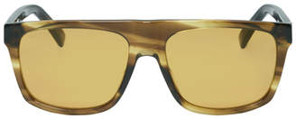 15a52021e104 Gucci Tortoiseshell and Brown Oversized Wearable Sunglasses