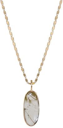Mirabelle Jewellery Unique Rutilated Quartz Point Pendant