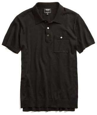 Todd Snyder Italian Silk Cotton Pocket Polo in Black