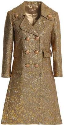 Michael Kors Wool-Blend Brocade Coat