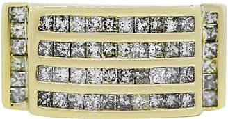 One Kings Lane Vintage Yellow Gold Invisible Set Diamond Ring - Raymond Lee Jewelers