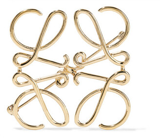 Gold-tone Brooch - one size