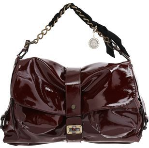 Lanvin Pise Shoulder Bag- Dark Red