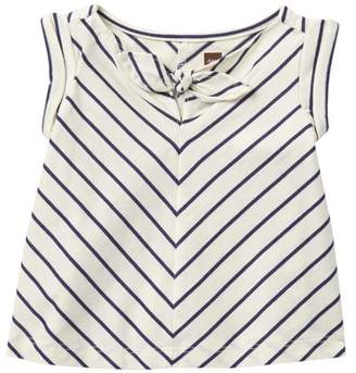 Tea Collection Classic Stripe Knotted Top (Baby Girls)