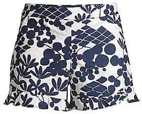 Trina Turk Women's Tourist Rocklin Jacquard Floral Shorts