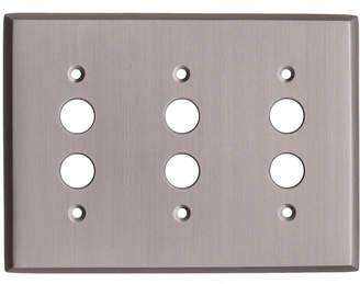 Rejuvenation Lewis Triple Push-Button Switchplate
