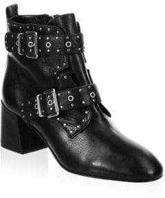 Rebecca Minkoff Logal Buckle Leather Booties