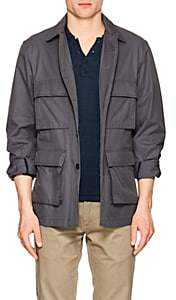 John Vizzone JOHN VIZZONE MEN'S COTTON-BLEND FIELD JACKET-GRAY SIZE M