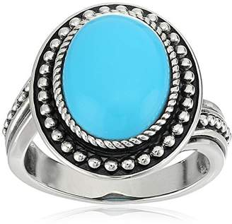 Sonora SS Oval Turquoise Ring