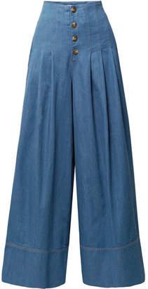 Sea High-rise Wide-leg Jeans - Mid denim
