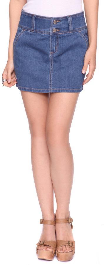 Forever 21 Stretch Denim Skirt