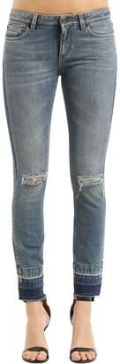 Dolce & Gabbana Skinny Destroyed Cotton Denim Jeans