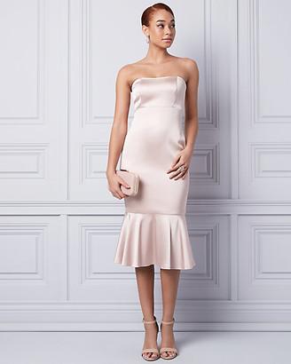 Le Château Satin Strapless Cocktail Dress