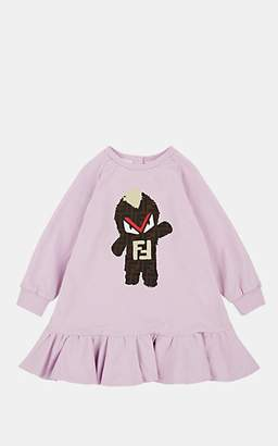 Fendi Kids' FF Logo- & Monster-Print Cotton Dress - Lilac