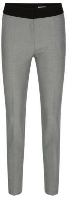 Hugo Boss Acnella Contrast Twill Stripe Dress Pants 8 Patterned $275 thestylecure.com