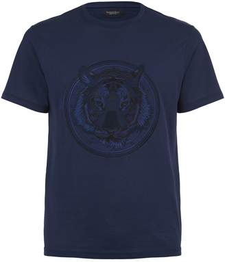 Stefano Ricci Embroidered Lion T-Shirt