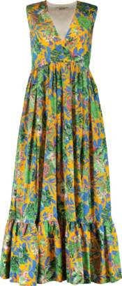 MSGM Floral Maxi Dress