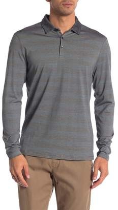 Robert Barakett Long Sleeve Stripe Polo