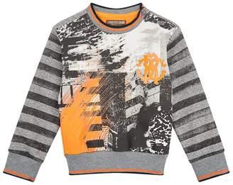 Roberto Cavalli Graffiti Printed Logo Sweatshirt
