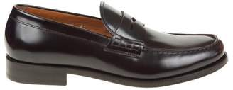 Doucal's Shoes In Skin Color Burgundy