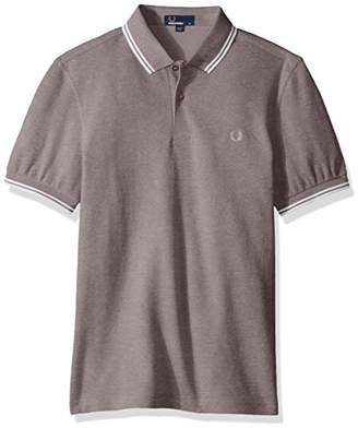 Fred Perry Men's Twin Tipped Shirt Polo (Pink D20)