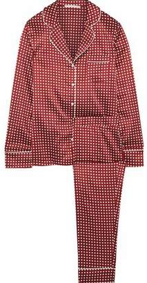 Stella McCartney Poppy Snoozing Polka-Dot Stretch-Silk Satin Pajama Set