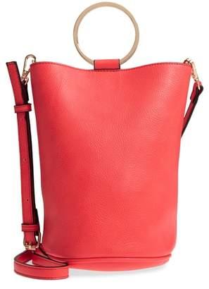 Ilia MALI AND LILI Mali + Lili Vegan Leather Ring Handle Bucket Bag