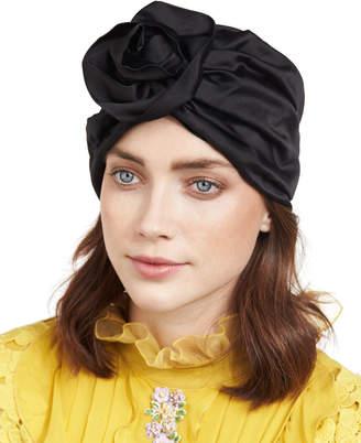 Jennifer Behr Rosette Silk Satin Turban Hat
