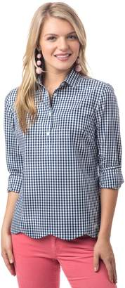 Southern Tide Scalloped Gingham Popover
