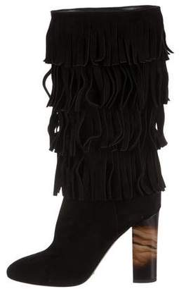 Burberry Suede Fringe Boots w/ Tags