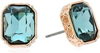 Laundry by Shelli Segal Emerald Cut Stud Earrings