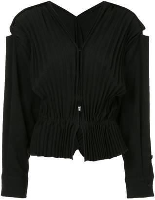 CHRISTOPHER ESBER pleated v-neck blouse