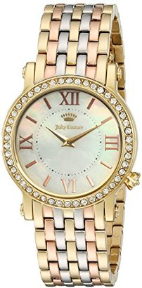 Juicy Couture Women's 'LA Luxe' Quartz Gold-Tone and Stainless Steel Casual Watch, Multi Color (Model: 1901430) $395 thestylecure.com