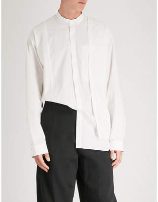 Isabel Benenato Layered slim-fit cotton shirt