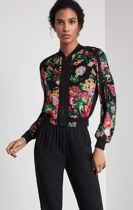 BCBGMAXAZRIA Floral Bomber Jacket