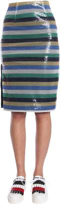 Tommy Hilfiger Striped Midi Skirt