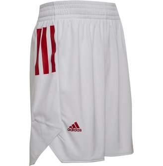 adidas Mens Ekit Basketball Shorts White/Power Red