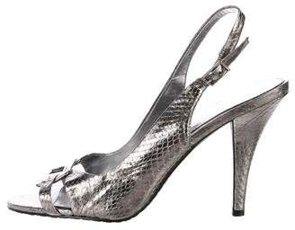 Calvin Klein Collection Metallic Slingback Sandals