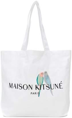 MAISON KITSUNÉ logo print tote