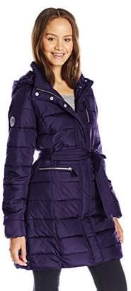 U.S. Polo Assn. Junior's Long Self-Belt Puffer Coat