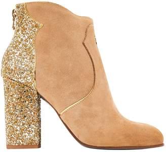 Patrizia Pepe Camel Suede Boots