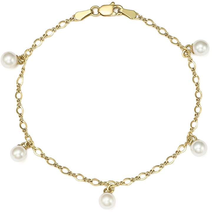 Cultured Freshwater Pearl Chain Bracelet in 14K Yellow Gold, 5mm - 100% Exclusive