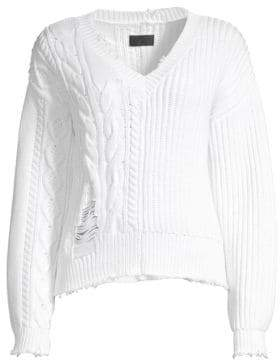 RtA Echo Cable-Knit Dropped Shoulder Sweater
