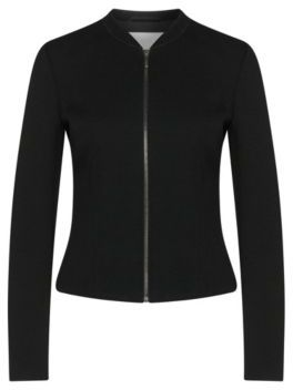 Hugo Boss Kelala Textured Jersey Fitted Blazer 0 Black $445 thestylecure.com