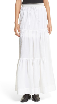 DKNY Tiered Drawstring Maxi Skirt $448 thestylecure.com