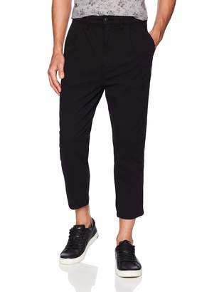 Hudson Jeans Men's Cropped Pleated Trouser Pant