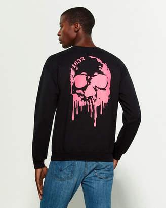 Bolongaro Trevor Dripping Skull Long Sleeve Sweatshirt