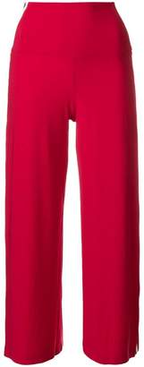Norma Kamali side stripe cropped trousers