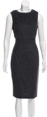 Magaschoni Wool Cable Knit Accented Dress w/ Tags