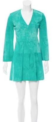 Derek Lam Suede Mini Dress w/ Tags Green Suede Mini Dress w/ Tags